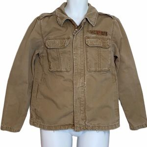 Mossimo Tan Army Distressed Men's Jacket